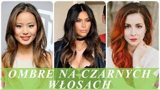 Nowoczesne fryzury ombre na ciemnych włosach