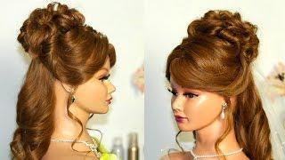 Свадебная прическа  с фатой для длинных волос.(Мой первый канал - http://www.youtube.com/user/womenbeauty1 Facebook https://www.facebook.com/pages/Womenbeauty1/369029276535217 Инстаграм., 2015-04-10T16:14:10.000Z)