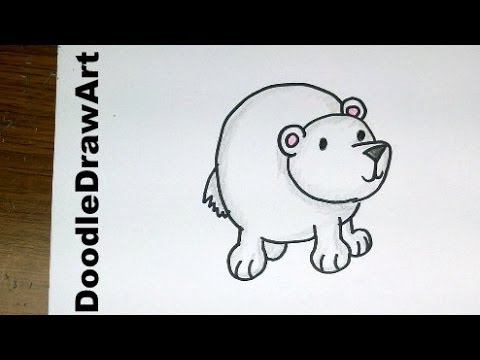 Drawing How To Draw Cartoon Polar Bear Baby So Cute And Easy Step By Step Lesson