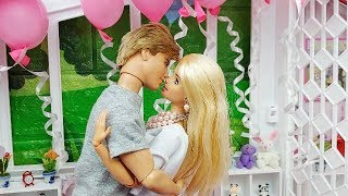 🎂Barbie & Ken Morning Routine Surprise Birthday Cake🎂Boneka Barbie Ken La poupée Barbie de Ken🎂