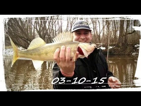 Big Creek Open Water Walleye Fishing 03-10-15