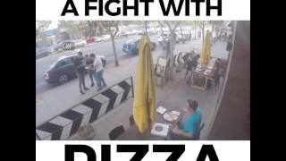 HE STOPPED A FIGHT WITH PIZZA (funny) :)))