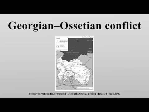 Georgian–Ossetian conflict