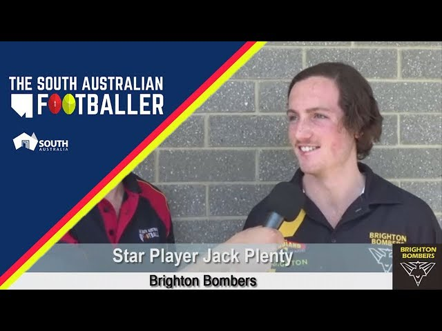 SA Adelaide Footballer 22 2 60 Second Rapid Fire with Brighton Bombers Star Player Jack Plenty