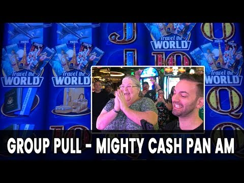 👩👩👦-$4000-group-pull!-💪-mighty-cash-pan-am-@-cosmo-las-vegas-on-the-strip