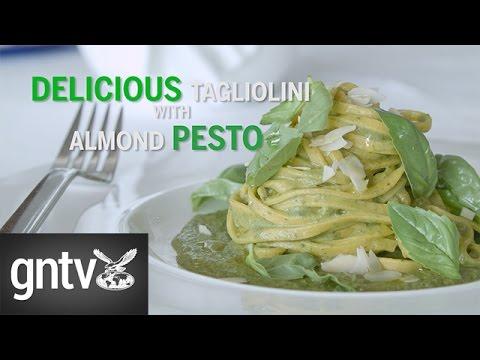 Tagliolini with almond pesto - GN Guides