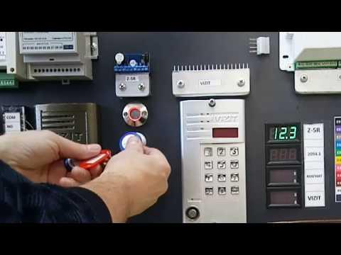Контроллер Z-5R, запись мастер ключа, запись ключа Mifare в память контроллера.
