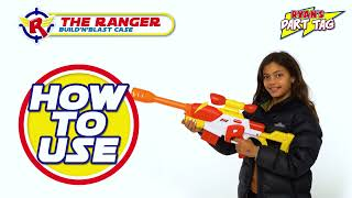 Ryan's Dart Tag | Instructional Video | How to Use the Ranger Build'n'Blast Case! | Ryan's World