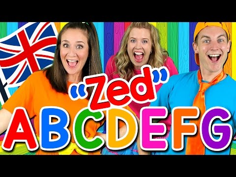 Alphabet Song  ABC Song UK ZED Version! Learn the Alphabet, British English ABC Songs