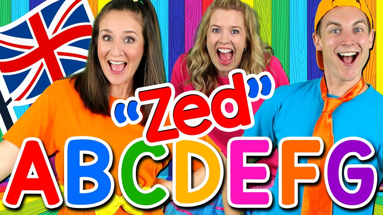 Alphabet Song - ABC Song UK ZED Version! Learn the Alphabet, British English ABC Songs