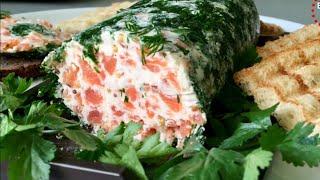 Отличная закуска на любой случай. Бутербродное масло с красной рыбой.