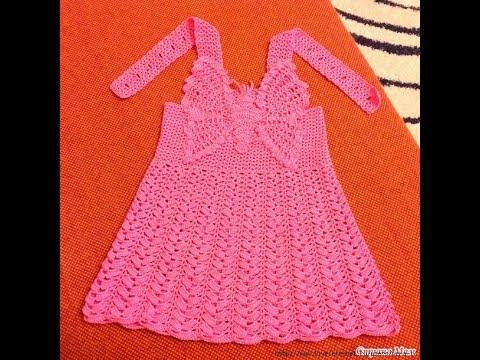 Crochet Patterns| free |crochet baby dress| 2686