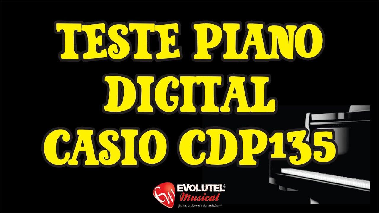 af79c6a138f Teste Review Piano Digital Casio CDP135   Teclas ação martelo -  evolutelmusical.com.br
