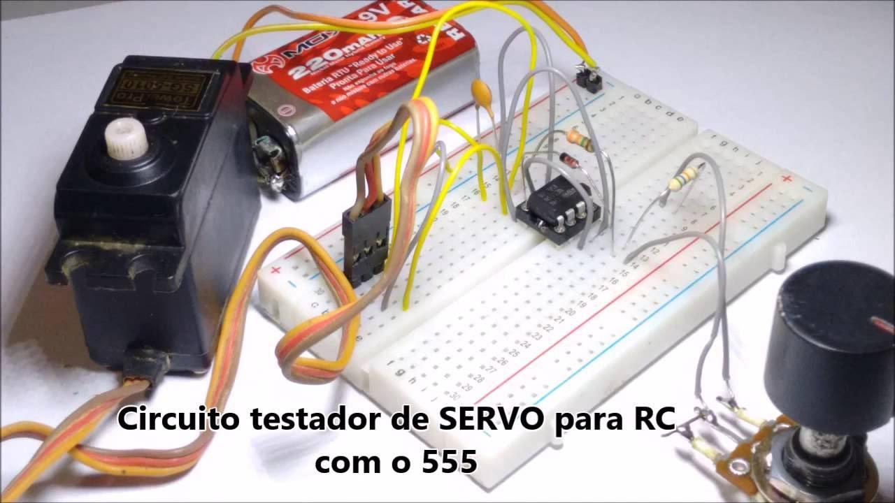 DIY - Circuito para testar o servo de rádio controle - YouTube