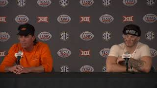 Texas Bowl: Mike Gundy and Dru Brown press conference