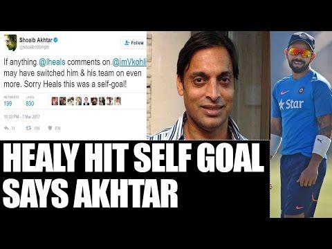 Shoaib Akhtar backs Virat Kohli over Ian Healy