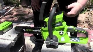 Review of the Greenworks Ten Inch Cordless Chainsaw