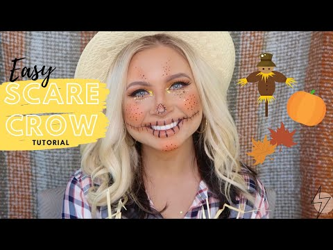 Easy GLAM Scarecrow Makeup Tutorial | Tanner Mann thumbnail