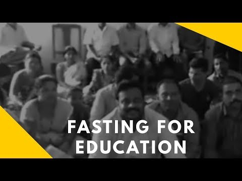 Sindhudurg: Fasting  for  Education in front of the Education Officer