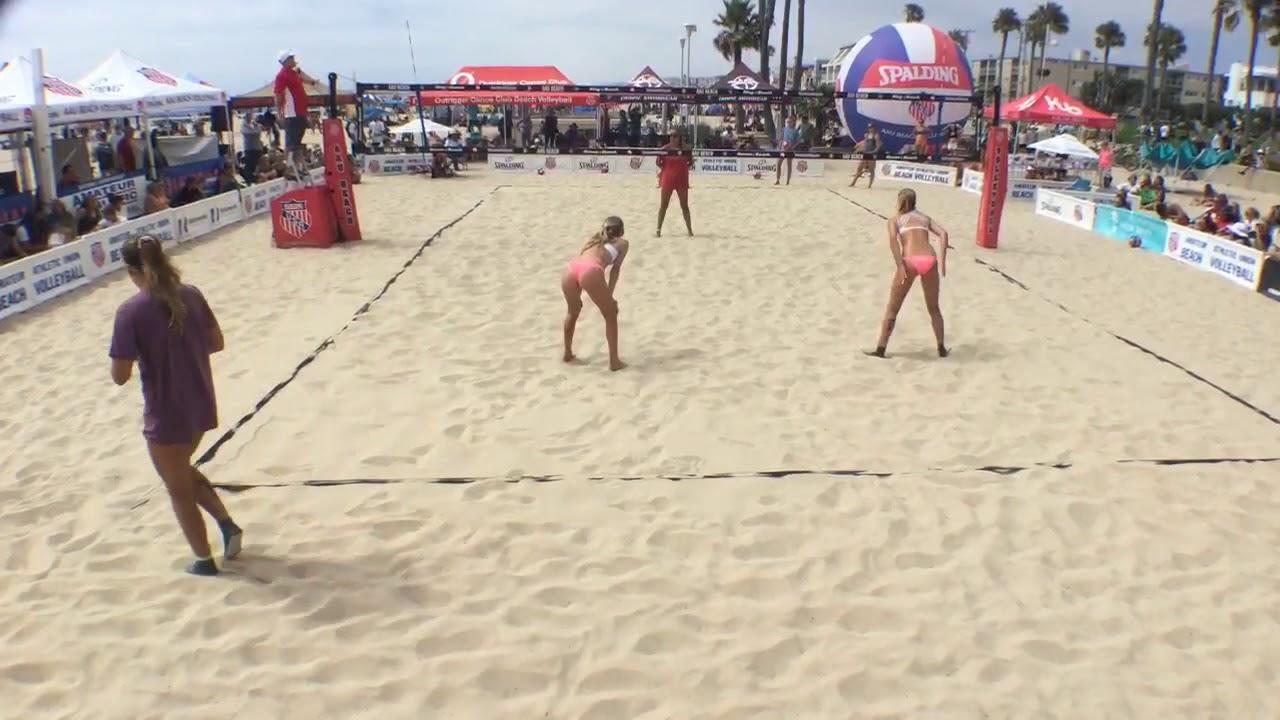 15u Final Aau Beach Volleyball 2019 National Championships Hermosa Beach Youtube
