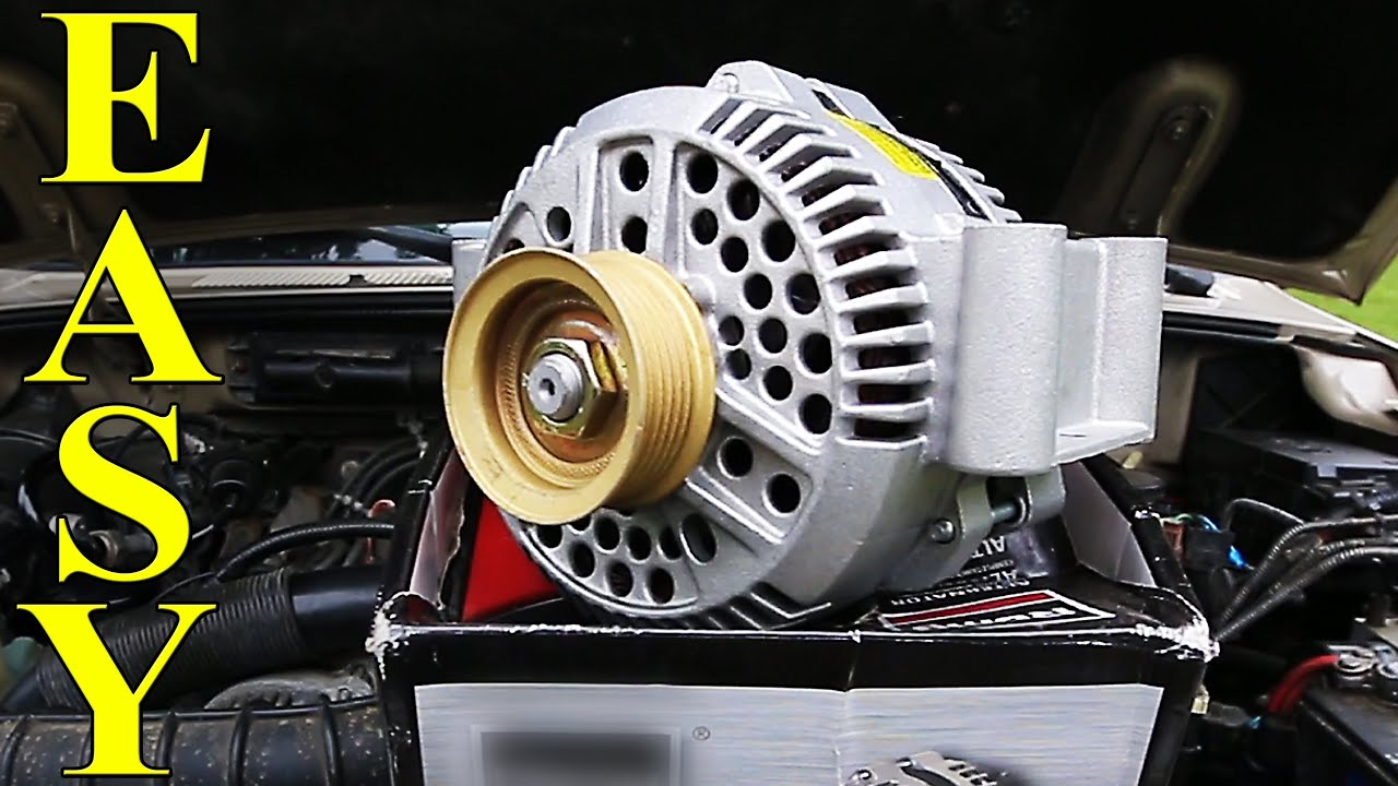 hight resolution of how to replace an alternator