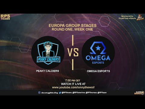 OMEGA ESPORTS vs PEAKY CALDIERS | RPS TEAM | CLASH ROYALE | week 1