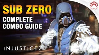 Injustice 2: How To Play Sub Zero (Strategy Guide) - Combos, Tips & More!