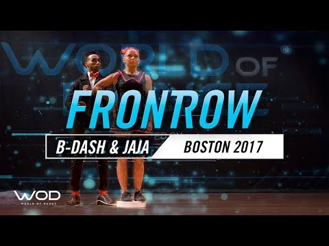 B-Dash & Jaja Vankova  FrontRow  World of Dance Boston   WODBOS17
