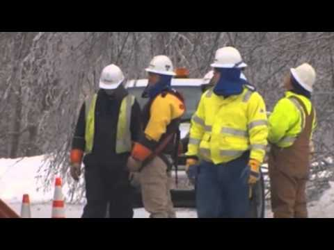 Snow Slows Maine Power Push; Mich. Work Ongoing