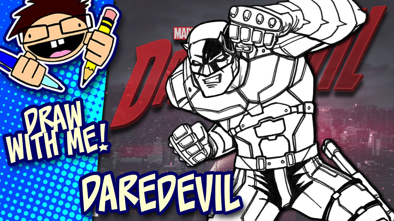 Let S Draw Daredevil Netflix Series Drawing Guide
