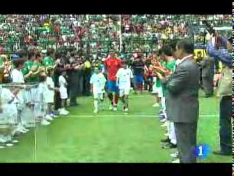 México 1 - España 1 / Homenaje a los campeones en el Azteca