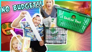 PARENTS DO THE NO BUDGET DOLLAR STORE CHALLENGE!!