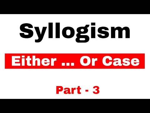 Syllogism Either Or case THeory and Questions for Bank PO SBI PO/Clerk | Part 3