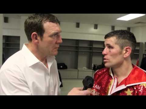 MARTIN ROGAN INTERVIEWS EAMONN O'KANE (POST-FIGHT INTERVIEW) FOR iFILM LONDON / O'KANE v BOULDEN