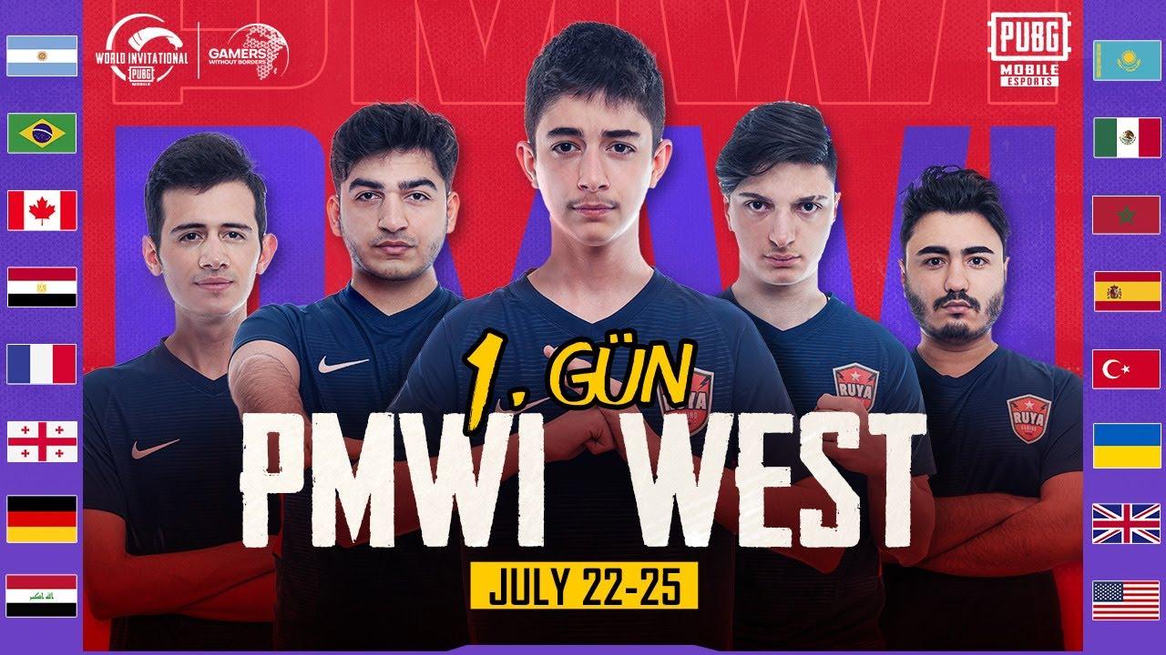 [TR] PMWI 2021 Batı 1. Gün   Gamers Without Borders   PUBG MOBILE World Invitational