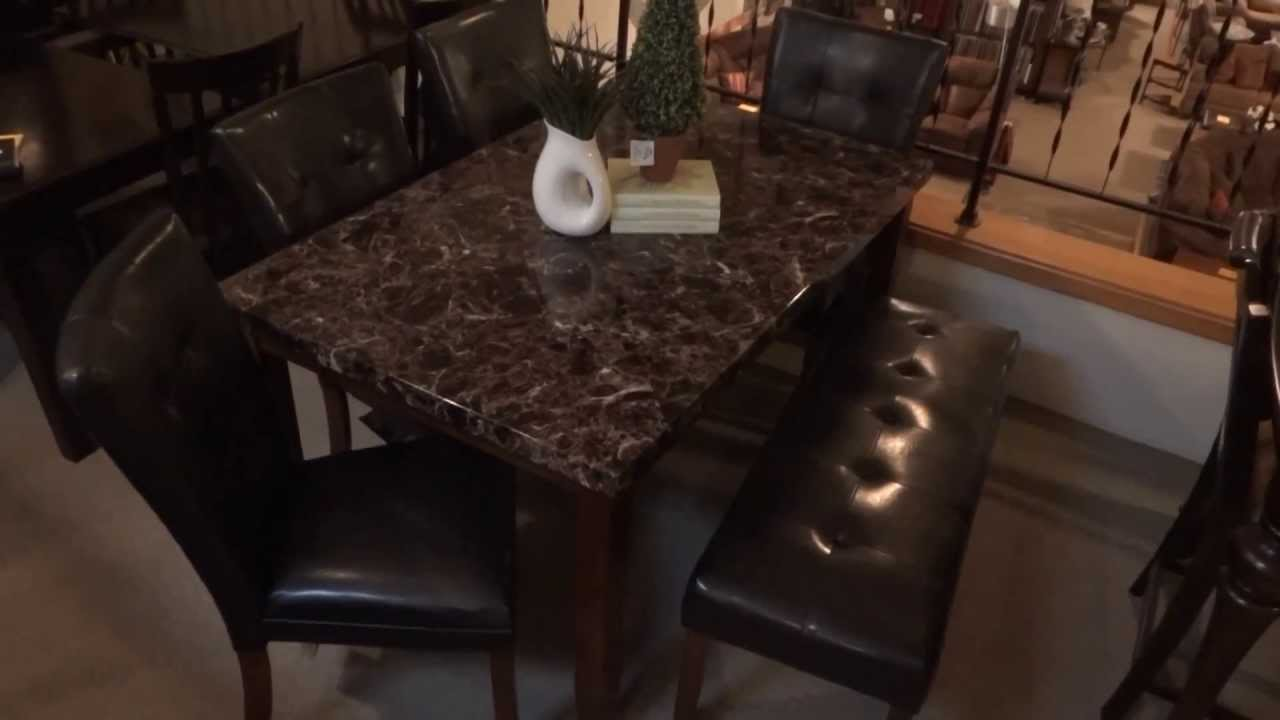 ashley furniture lacey dining table set w/ bench d328 review - youtube