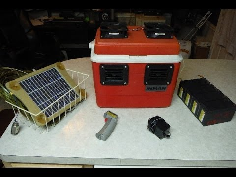 personal air conditioner solar 12v battery or 110v aka swamp cooler youtube