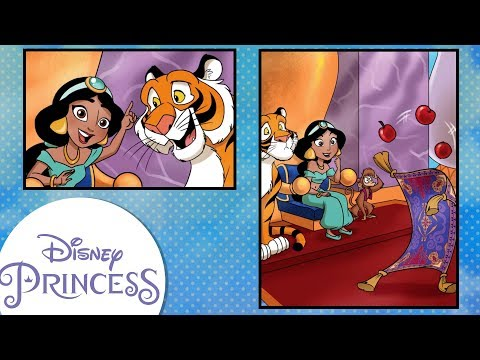 """Disney Comics In Motion   Disney Princess   Jasmine """"Queen For A Day"""""""