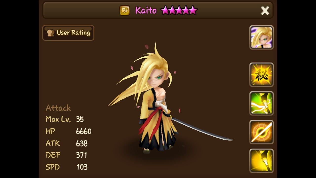 summoners war kaito wind samurai youtube