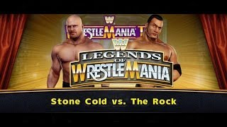 WWE Legends Of WrestleMania (2013) Gameplay   Stone Cold vs The Rock   WWE 2K14 Countdown!