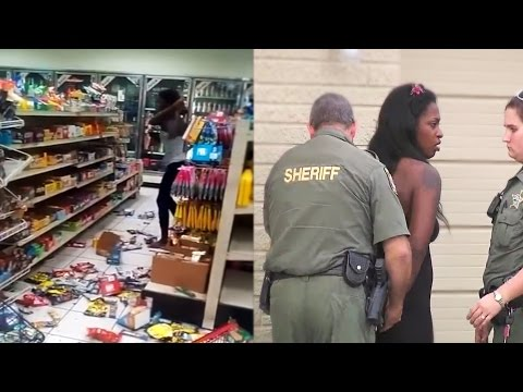 Girl destroys store and gets arrested! MUST WATCH!!!