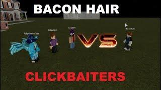 Bacon Hair VS Clickbaiters - Salvataggio di YouTube - ROBLOX Mini Movie di Roblox Minigunner