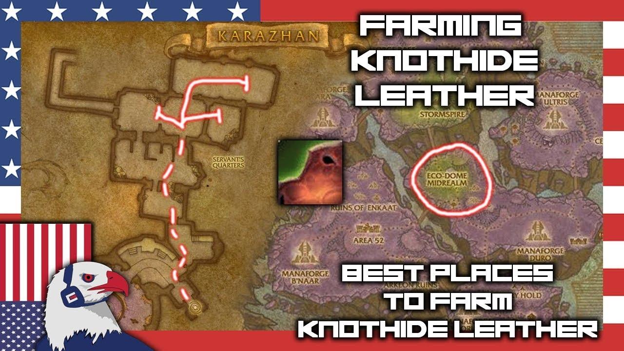 Knothide Leather Farming Spot Bfa Skinning 8 15 Youtube