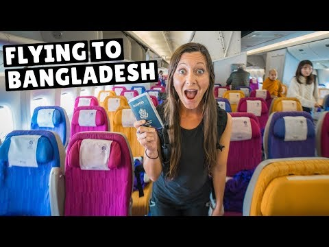 FLYING TO OUR 97th COUNTRY Bangkok to Bangladesh