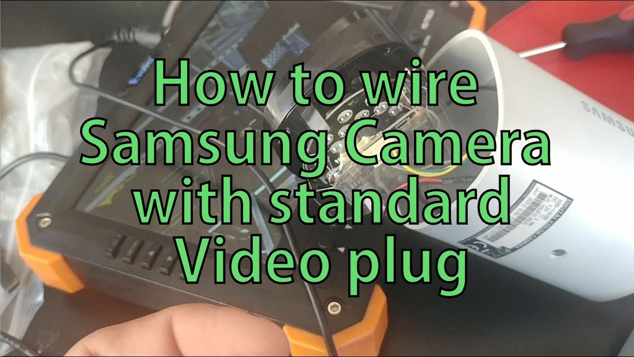 How To Re Wire Samsung Camera Rj 45 Standard Bnc Video Plug Youtube Rj45 Color Code Along With Cat 5 Cable Pinout Wiring Together