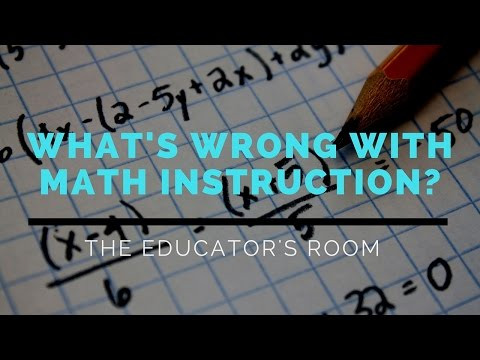 What's the Deal With Math Education? A Google Hangout