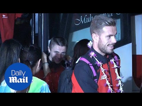 Liverpool touch down in Kuala Lumpur on pre-season tour - Daily Mail