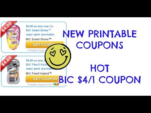 photo regarding Bic Printable Coupons identify Refreshing PRINTABLE Discount coupons $4/1 BIC RAZOR PRINT At present!!!