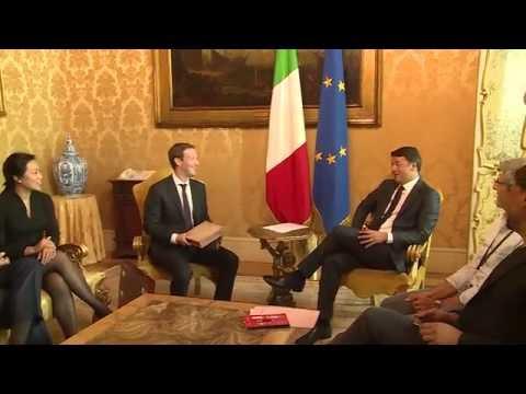 Renzi incontra Mark Zuckerberg a Palazzo Chigi (29/08/2016)