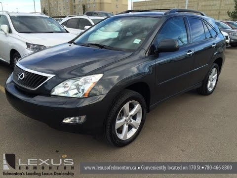 Pre Owned Grey On Black 2008 Lexus Rx 350 Awd Walk Around Review Calgary Alberta Canada